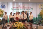 Lễ ký kết hợp đồng thuê đất xây dựng nhà máy sản xuất ván PB của tập đoàn Kim Tín